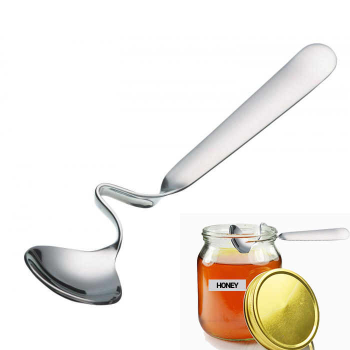 Pack of 2 Kitchen Craft Stainless Steel Jam Spoon